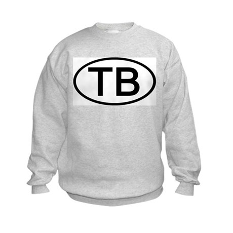 TB - Initial Oval Kids Sweatshirt