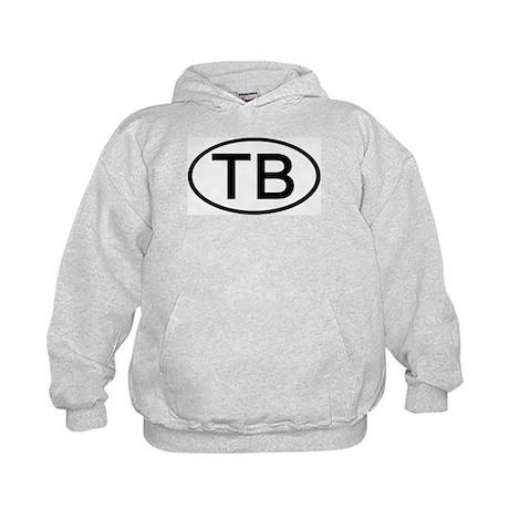 TB - Initial Oval Kids Hoodie