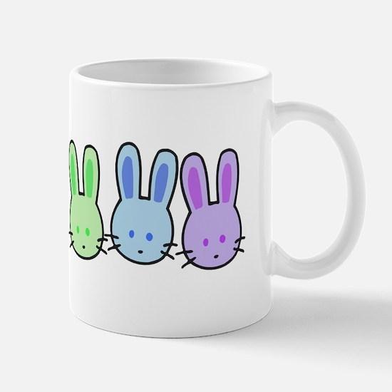 Pastel Rainbow Bunnies Mug