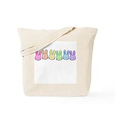 Pastel Rainbow Bunnies Tote Bag
