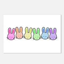 Pastel Rainbow Bunnies Postcards (Package of 8)