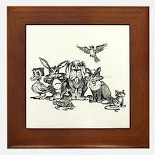 Gang of Animals Framed Tile