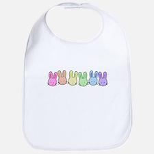 Pastel Rainbow Bunnies Bib
