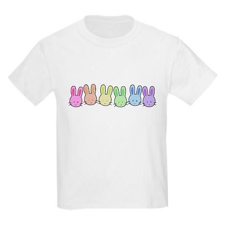 Pastel Rainbow Bunnies Kids T-Shirt