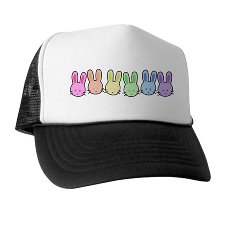 Pastel Rainbow Bunnies Trucker Hat