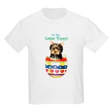 Easter Yorkie Kids T-Shirt