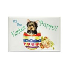 Easter Yorkie Rectangle Magnet