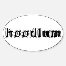 Hoodlum Oval Decal