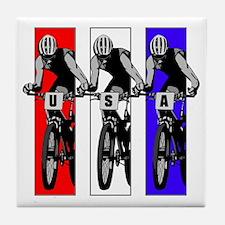 USA Biking Tile Coaster