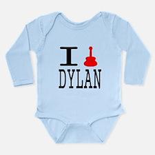 Listen To Dylan Long Sleeve Infant Bodysuit