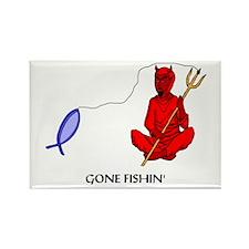 Gone Fishin' Rectangle Magnet