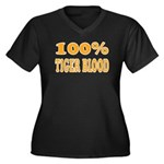 Tiger Blood Women's Plus Size V-Neck Dark T-Shirt