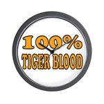 Tiger Blood Wall Clock