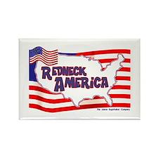 Redneck America Rectangle Magnet