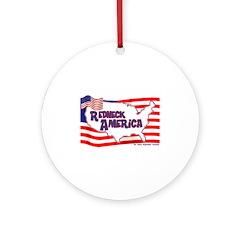 Redneck America Ornament (Round)