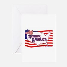 Redneck America Greeting Cards (Pk of 10)