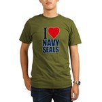 I love Navy Seals Organic Men's T-Shirt (dark)