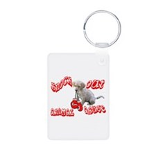 Knock Out Animal Abuse Keychains