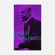 Emile Durkheim Sticker (Rectangle 10 pk)