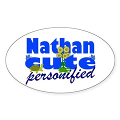 Cute Nathan Sticker (Oval 10 pk)