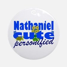 Cute Nathaniel Ornament (Round)