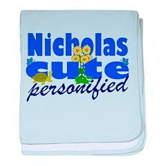 Cute Nicholas baby blanket