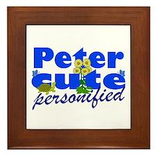 Cute Peter Framed Tile