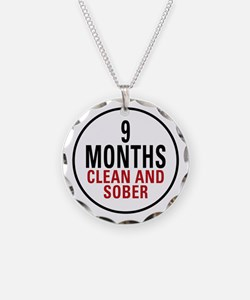 9 Months Clean & Sober Necklace