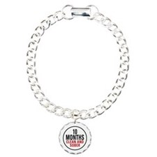 10 Months Clean & Sober Charm Bracelet, One Charm