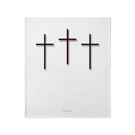 Throw Blanket - 3 Crosses