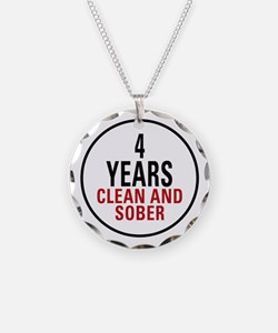 4 Years Clean & Sober Necklace