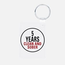 5 Years Clean & Sober Keychains