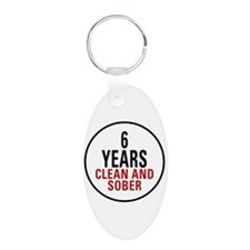 6 Years Clean & Sober Keychains