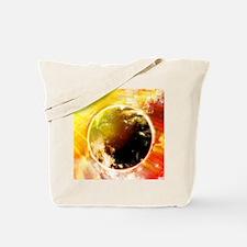 Burning Earth Tote Bag