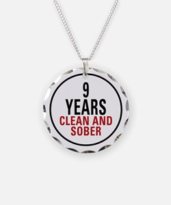 9 Years Clean & Sober Necklace