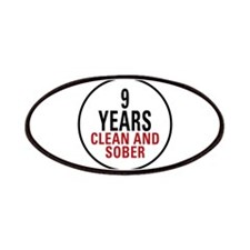 9 Years Clean & Sober Patches