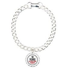10 Years Clean & Sober Charm Bracelet, One Charm