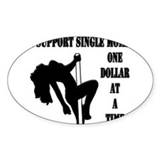 Support single moms 1 Decal