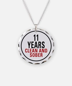 11 Years Clean & Sober Necklace