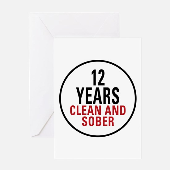 12 Years Clean & Sober Greeting Card