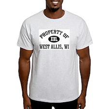Property of West Allis Ash Grey T-Shirt