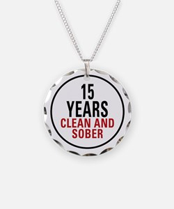 15 Years Clean & Sober Necklace