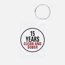 15 Years Clean & Sober Keychains