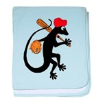 Baseball Gecko baby blanket