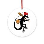Baseball Gecko Ornament (Round)
