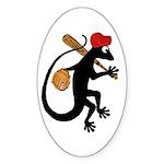 Baseball Gecko Sticker (Oval)