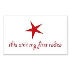 first rodeo Sticker (Rectangle 50 pk)