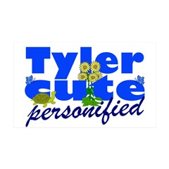 Cute Tyler 38.5 x 24.5 Wall Peel
