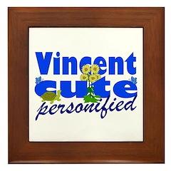 Cute Vincent Framed Tile