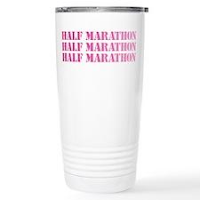 half marathon x 3 pink Travel Mug